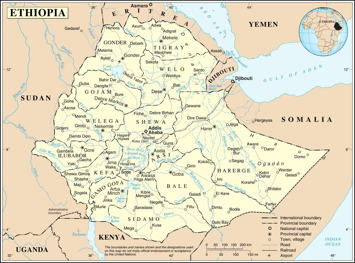Etiopia mapping agency